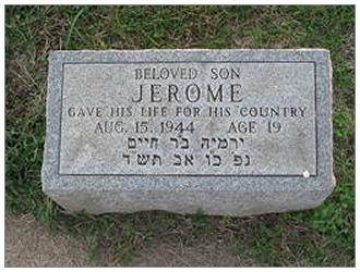 Memorial - Jerome R. Samburg - Age 19