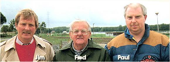 Jim, Fred and Paul Lloyd - at cemetery Vollenhove - 1994