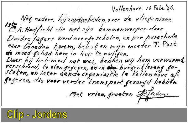 C. A. Hadfield (26) - Trijntje Jordens née Post (54) - Harm Jordens (19) - 10 Feb 1944