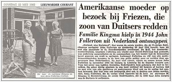 Visit Mrs. Anna Fullerton (mother) to Mr. & Mrs. Marten Kingma - May 1962 - Beesterzwaag