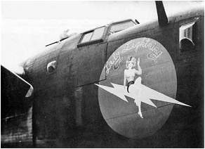 Nose art - #42-52597 - 'Lady Lightning'