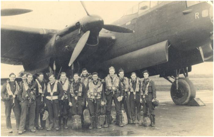 Two Lancaster crews with Sgt. Heasman and F/Sgt. Baldwin