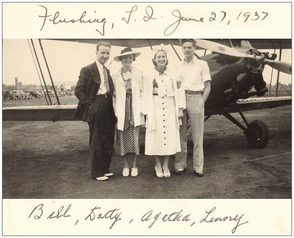 Lenny Werner with friends - Flushing, Long Island, 27 Jun 1937