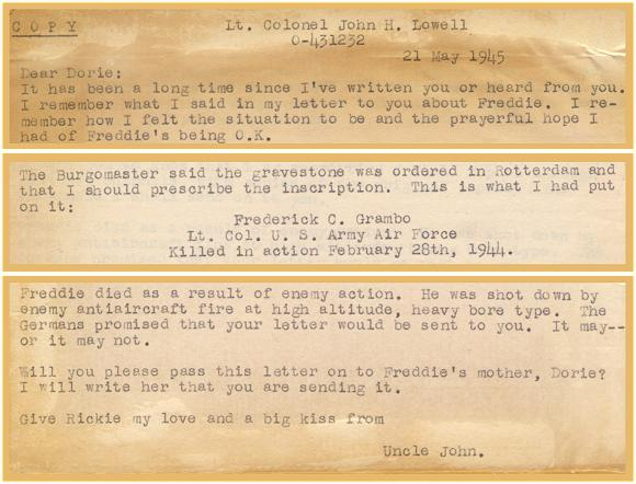 Letter from 'Uncle John' - Lt.Col. John H. Lowell