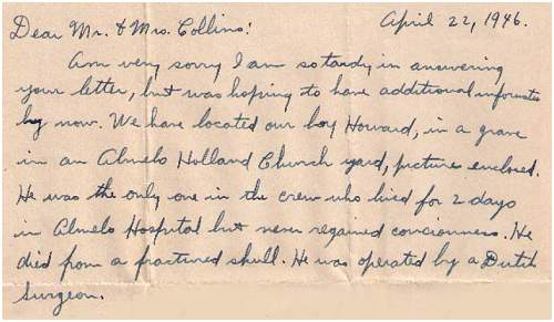 Letter from Max. J. Kline to Mr. and Mrs. Collins - 22 Apr 1946