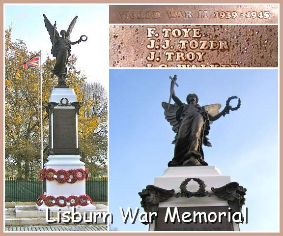Lisburn War Memorial, Lisburn, Co. Antrim, Northern Ireland, UK