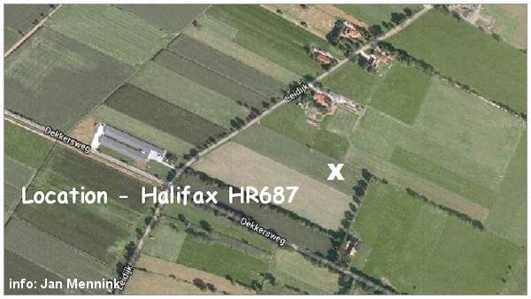 Crash location - Halifax Mk.II - HR687 - EY-G