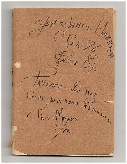 Logbook S/Sgt. James Harnish - cover