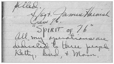 Logbook S/Sgt. James Harnish - page 1