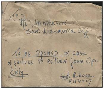 Envelope Letter - Sgt. R. Losa - 15 Dec 1943