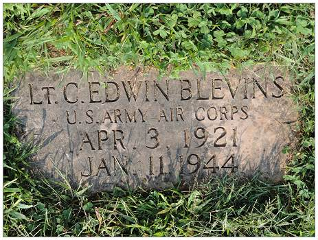 Headstone - 1st Lt. Clarence Edwin Blevins