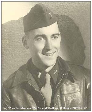 Rexford Herbert Dettre Jr. - with flight jacket - 1943 - copy and reuse restrictions apply