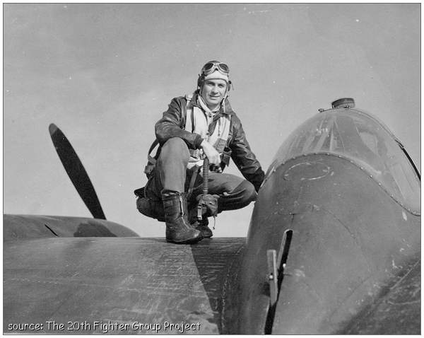 O-746103 - 2nd Lt. John Sherman Hascall - on P-38