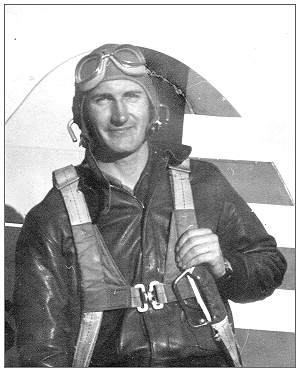 2nd Lt. James E. Barlow near aircraft