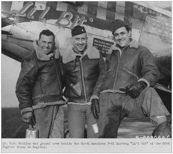 1st. Lt - Ralph Dahlstrom Whitley - with ground crew
