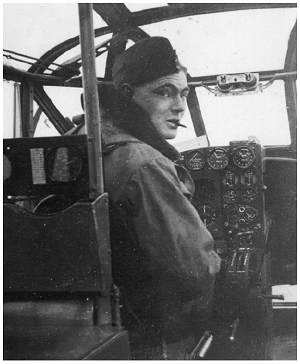 Bill Tudhope, cockpit AVRO ANSON at RAF Hemswell - 7 Mar 1939