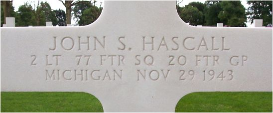 Headstone - 2nd Lt. John Sherman Hascall - Margraten, NL