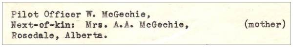 Next-of-kin - W. McGechie