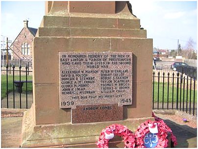 image courtesy - Judith Priest - War Memorial East Linton - see link above