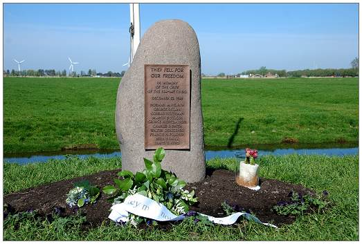 B-24 Memorial - Cnossenlaan, Bolsward - unveiled 04 May 2008 - at crash location