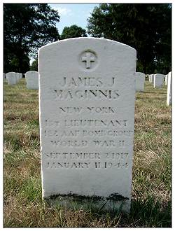 Memorial - O-793803  - 1st Lt. - James John Maginnis - Long Island National Cemetery
