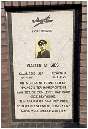 Memorial Monument - Sgt. Walter Murphy Sies - 16 Feb 2015