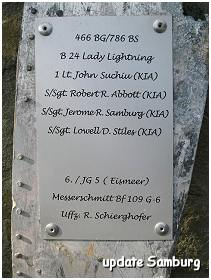 Nijensleek - 15 Aug 1944 Memorial - 2nd plaque (with Samburg)