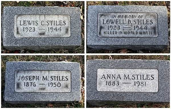 Memorials - Stiles - Maple Grove Cemetery, Fairmont, WV