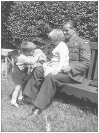 Michael, Maggie and Father Harry - Summer 1943