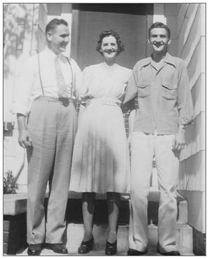 Mrs. Eva Owens with her sons Verner and James
