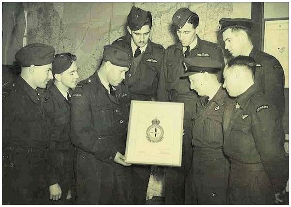 No. 408 'Goose' Squadron being awarded their Crest
