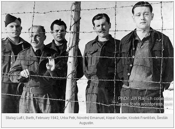 Novotný and Šesták - prisoners in Stalag Luft I, Barth - Feb 1942