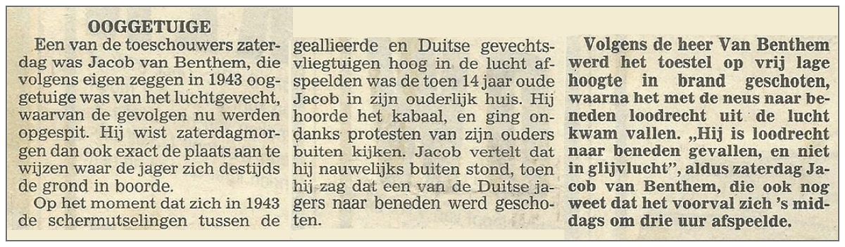 1943 - Eyewitness - Jacob van Benthem (Dec 1929)