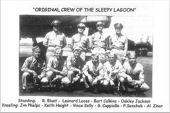 Original crew of 'Sleepy Lagoon' - scrapbook Keith R. Haight