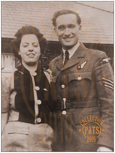 Sgt. James Leslie Osborne with his fiancée