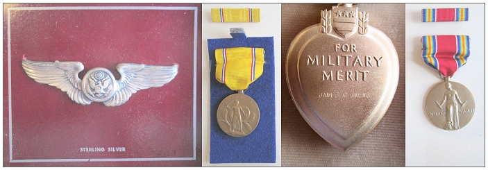 Owens' Wing, Medals and Purple Heart