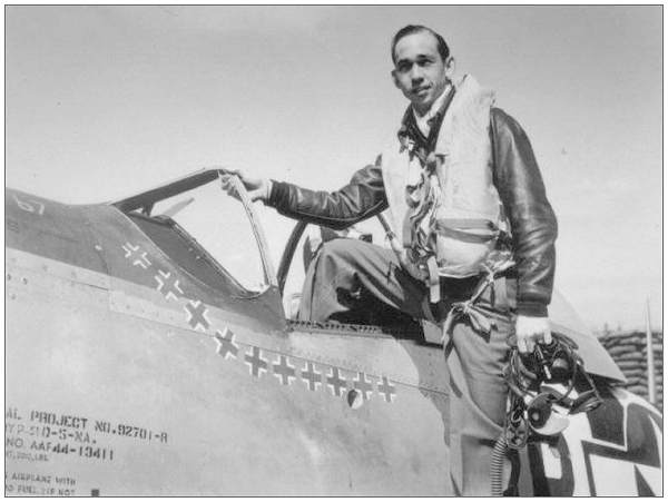 P-51D-5-NA - #44-13411 with Major Shelton 'Shel' W. Monroe