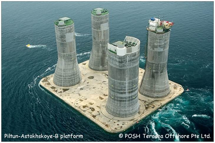 Sakhalin - Gravity Based Structure (GBS) - PA-B PLATFORM - © POSH Terasea Offshore Pte Ltd.