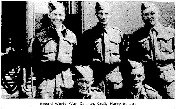 Second World War, Carman, Cecil, Harry Spratt