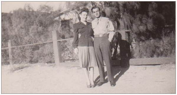 Patricia 'Pat' and William 'Bill' - while Bill was stationed in Mojave dessert - 1947