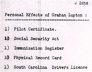 Personal effects - Graham Lupton