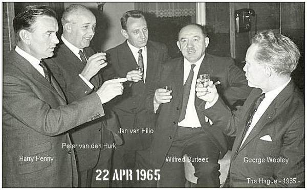 Harry Penny, Peter van den Hurk, Jan van Hillo, Wilfred Surtees and George Wooley