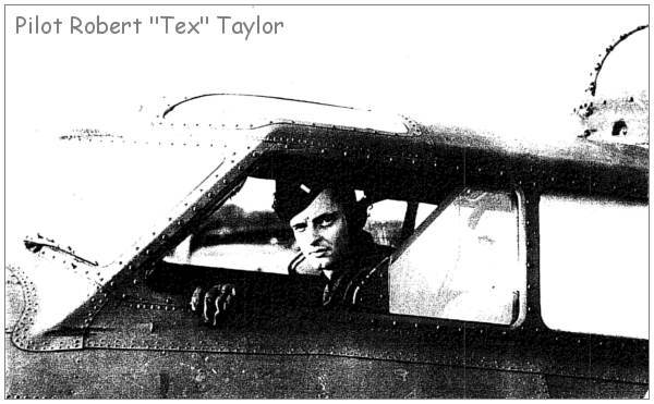 Pilot - Robert 'Tex' Taylor in cockpit