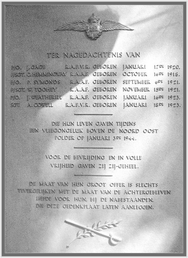 plaque-1944-in-church-vollenhove - image by PATS