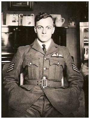 Pilot Officer - Pilot - James 'Jim' Brodie - RAFVR - at home