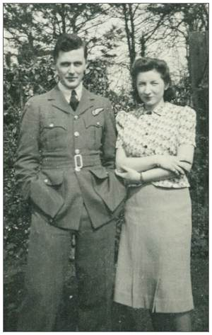 PO Patrick Aylmer Vivian with his fiancée Margaret