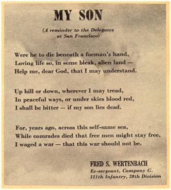 Poem 'MY SON' - Scrapbook - Mrs. Grambo -
