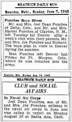 BEATRICE DAILY SUN - 1942