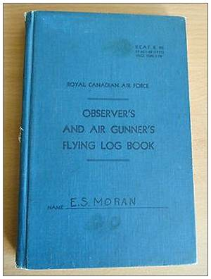 R/74523 - W/O. - Edward Stewart Moran - FLYING LOG BOOK