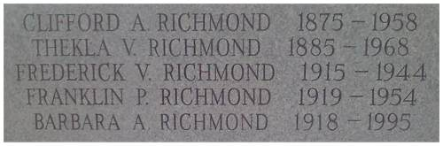 Brookside Cemetery - Richmond memorial